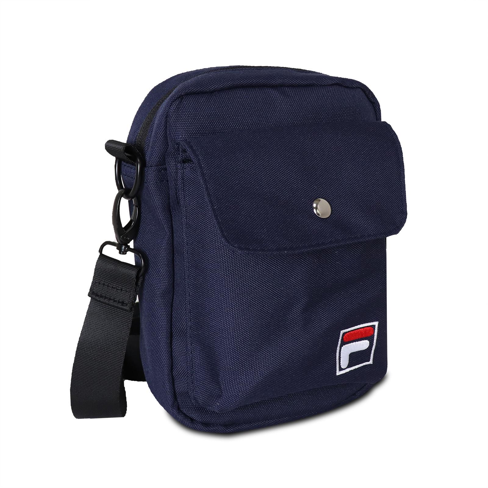 FILA 斜背包 Crossbody Shoulder Bag 藍 白 男女款 外出 側背【ACS】 BMV3014NV