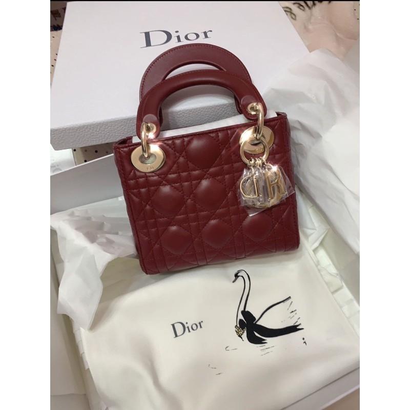 Christian Dior lady Dior  mini 3格 黛妃包
