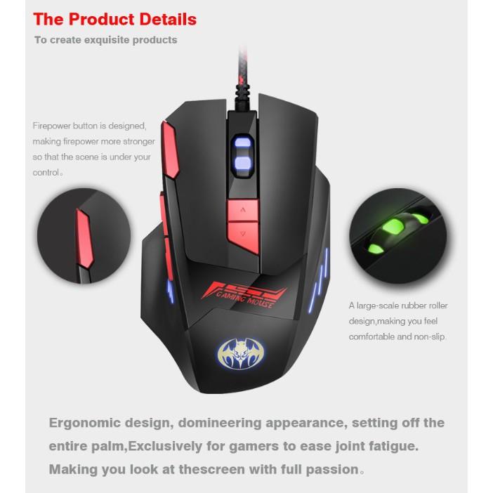 【台北現貨】幽蝠 GM18 電競滑鼠 遊戲滑鼠 電玩滑鼠 光學滑鼠 有線滑鼠 滑鼠 4段DPI調節 快捷鍵 英雄聯盟