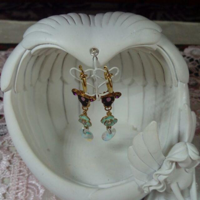 🐮🌺🎀ANNA SUI造型夾式耳環