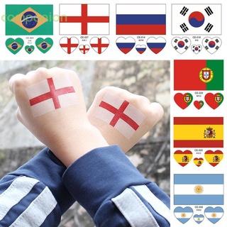 ☁companion☁ 新款世界杯32強國旗臉貼 足球世界杯紋身貼 助威球隊一次性文身貼(2)