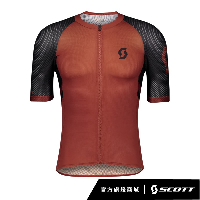 SCOTT RC PREMIUM CLIMBER S/SL SHIRT 登峰者短袖車衣 [棕/黑]