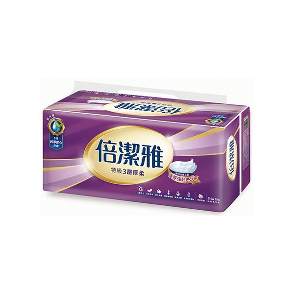 倍潔雅特級3層衛生紙110抽10包  【大潤發】
