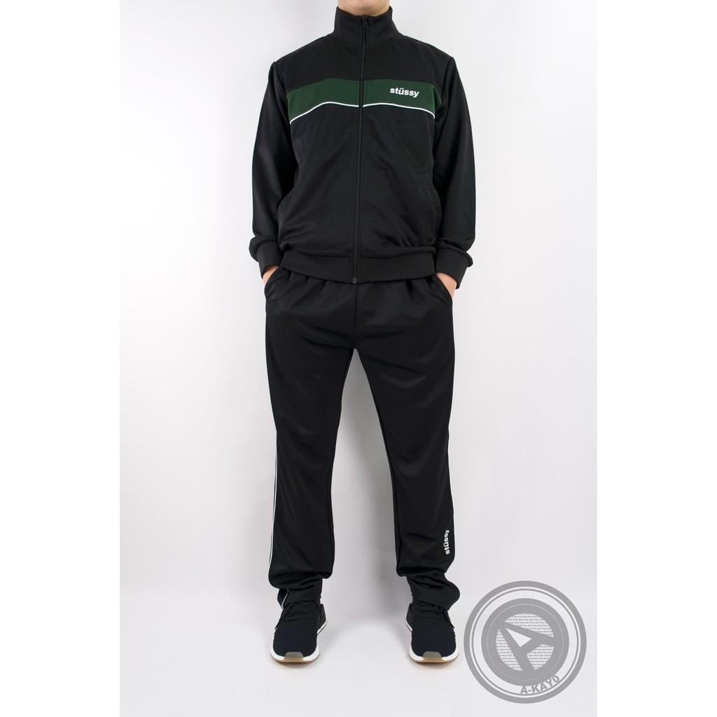 【A-KAY0】STUSSY TRACK PANT 運動長褲 黑白綠【116302BLAC】