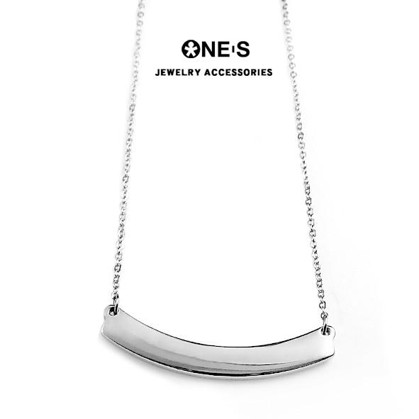 ONE'S 極簡時尚316L白鋼項鍊(客製化雷射刻字) O1-13-01