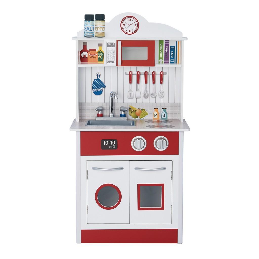 Teamson 馬德里木製廚房玩具 - 紅色 / 白色