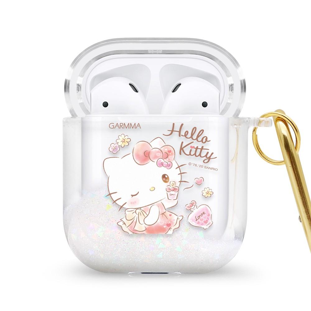 【AirPods】GARMMA ★Hello Kitty AirPods 1代 & 2代 藍芽耳機流沙保護套★香氛女孩