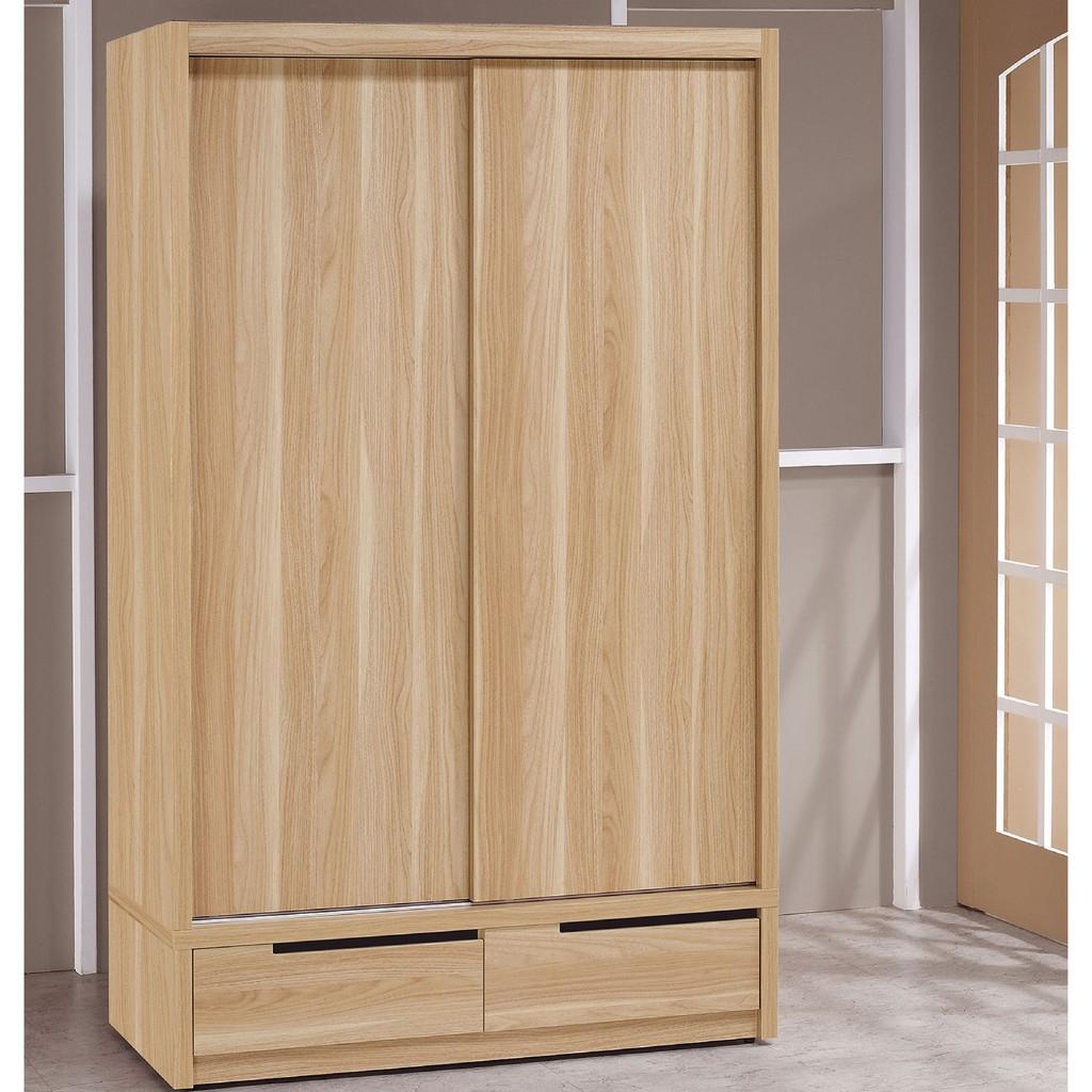 【119cm推門衣櫃-A128-4】木心板 推門滑門開門 衣服收納 免組裝 【金滿屋】