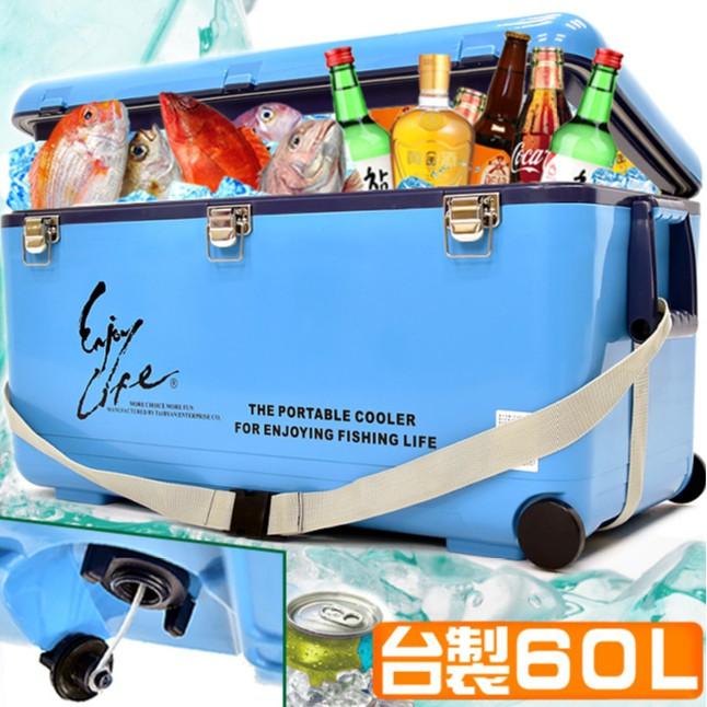 台灣製造60L冰桶行動冰箱60公升80公升100公升冰桶攜帶式冰桶釣魚冰桶.保冰桶冰筒保冷桶保冰箱保冷箱
