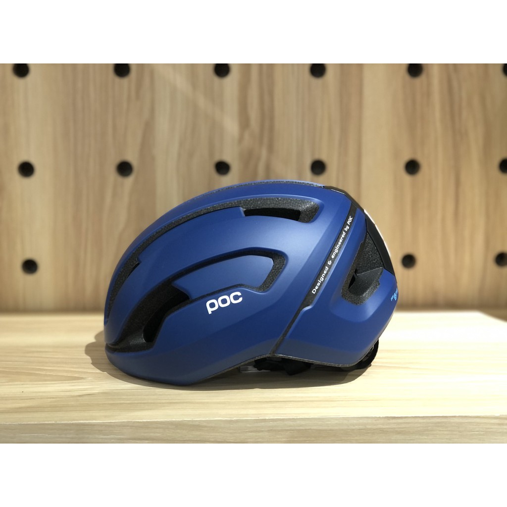 巡揚單車 -【POC】Omne Air WF SPIN 新款消光藍寬版安全帽 亞洲版 S/M  加強撞擊防護 提升舒適