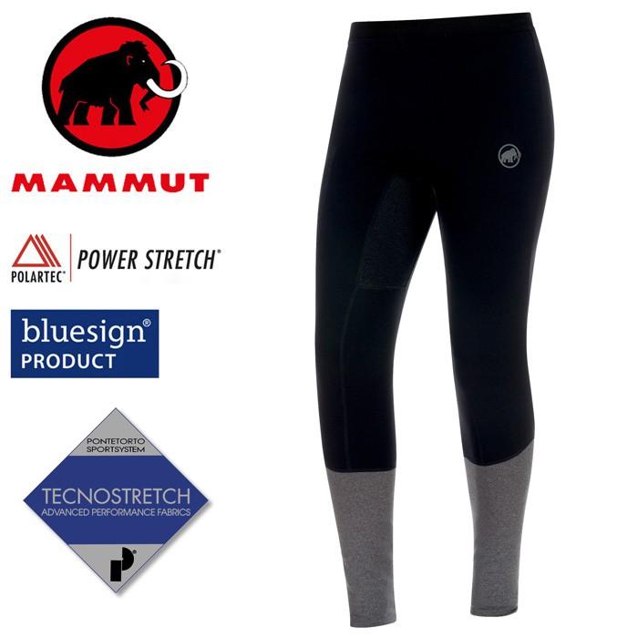 【Mammut 長毛象 瑞士】Aconcagua 機能保暖褲 PS褲 壓縮褲 男款 黑色 (00210-00205)