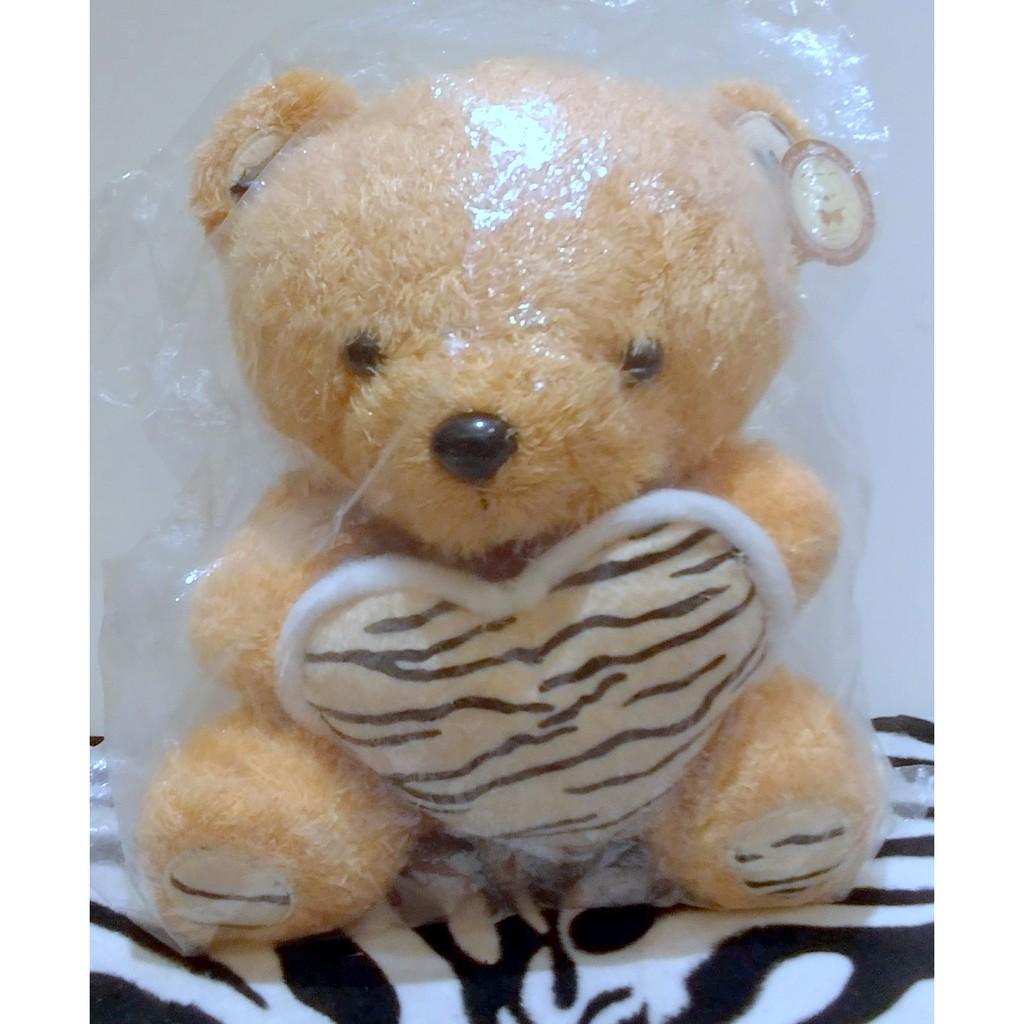 10吋泰迪熊玩偶/豹紋愛心小熊玩偶/寶貝熊(填充玩偶/絨毛娃娃/毛絨玩具/布偶批發/玩偶花束)