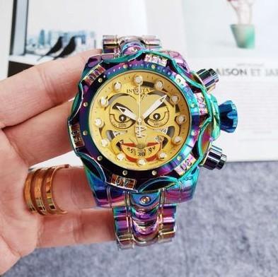 網紅小丑手錶 INVICTA幻彩小丑手錶 英弗它 歐美式手錶 石英男士手錶 合金殼手錶 幻彩小丑手錶 小丑手錶