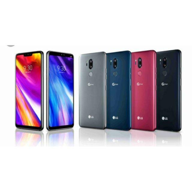 韓版 LG G7 G7+ 4+64 6+128 單卡 黑 紅 藍 灰 配件齊全