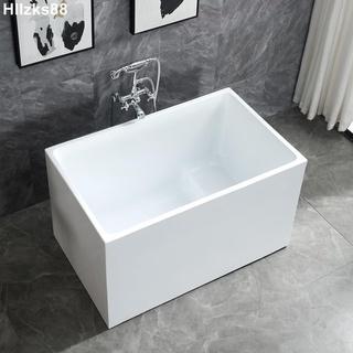 小浴缸家用小戶型日式深泡亞克力獨立一體式可移動坐式超迷你方缸 Hllzks88 新北市