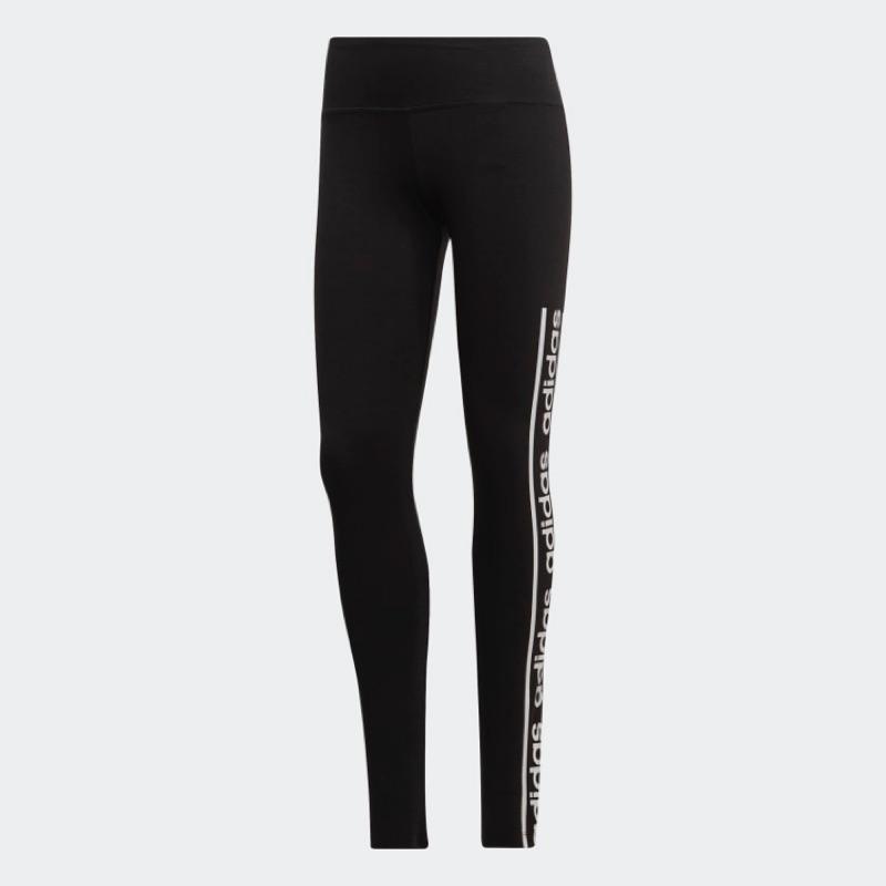 [Adidas] 女款運動休閒貼身長褲 黑色 EH6457 《曼哈頓運動休閒館》