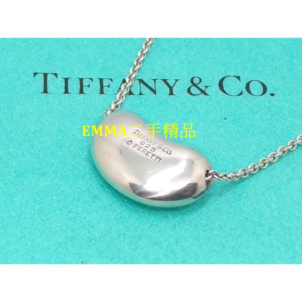 TIFFANY&CO. 大相思豆 純銀項鍊 (二手真品)