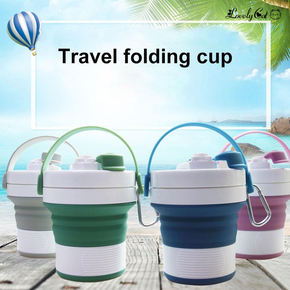 開拓者新款450ml矽膠折疊咖啡杯運動水杯旅行杯 辦公室伸縮水杯