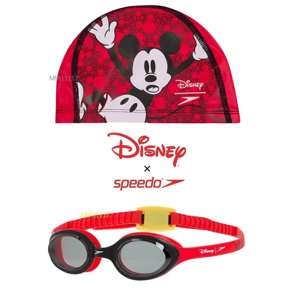 【泰山】speedo 兒童泳鏡 蛙鏡 兒童泳帽 迪士尼聯名 DISNEY 米奇MICKEY MOUSE 泳褲 兒童防