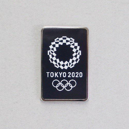 東京奧運 奧運會徽徽章 深藍色方型款 東京奧運 東奧 TOKYO 2020 官方限定商品 紀念品 現貨限量商品