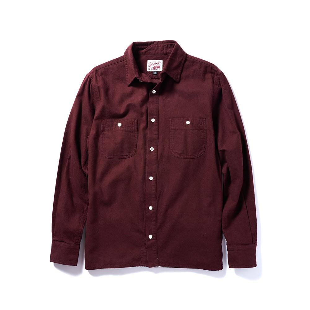 全新 Retrodandy Chamois Shirt - 酒紅 Burgundy 現貨