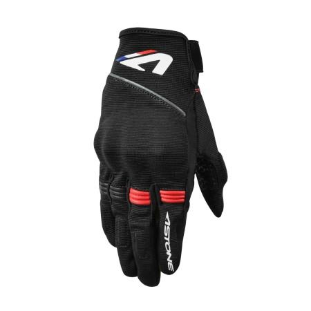 ASTONE - KA21  黑 / 紅 夏季 透氣 觸控 防曬 護具 機車手套