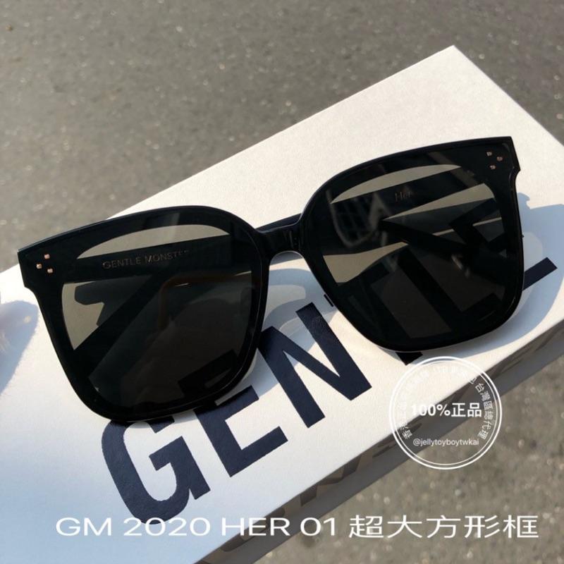 JTB廣告賣場 2020 全新正品 gentle monster HER 01黑色框 GM Flatba系列 太陽眼鏡