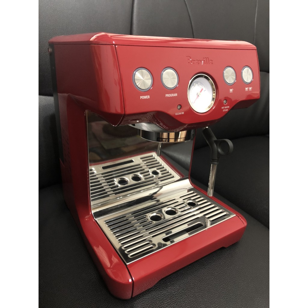 【Breville鉑富】半自動義式咖啡機BES840XL 紅色款 (二手) 附贈品