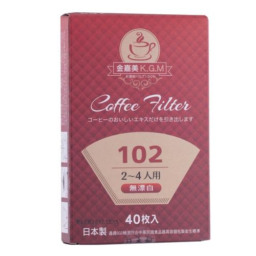 102扇形咖啡濾紙2-4人份(40入)【愛買】