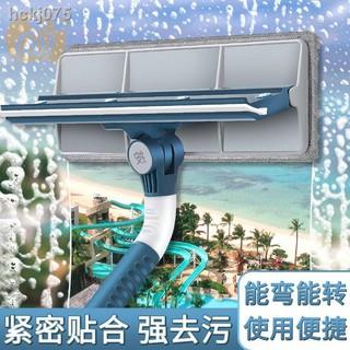 【現貨+免運】┋伸縮桿擦玻璃窗戶清潔工具帶桿洗刮一體神器家用雙面擦高樓刮水器