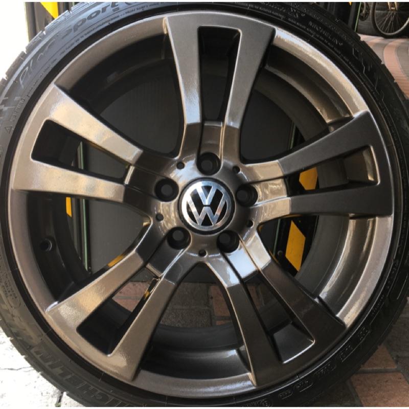 賓士 原廠18吋前後配鋁圈含胎  福斯 VW Golf Passat Touran Caddy T4 VR6 Skoda