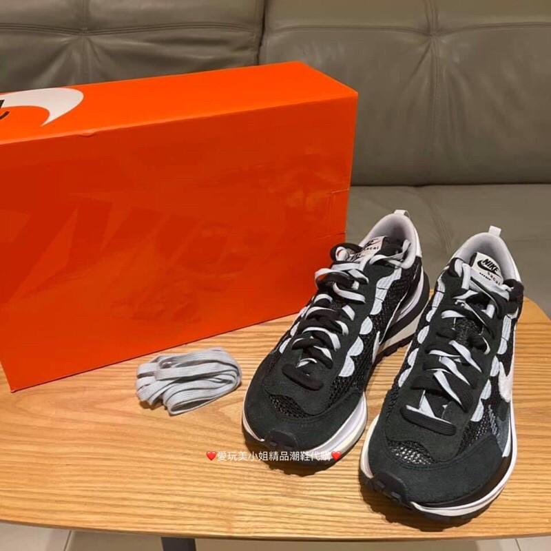 Sacai x Nike Vaporwaffle 聯名鞋款 👟 黑/白/黃綠/酒紅 價格私💋