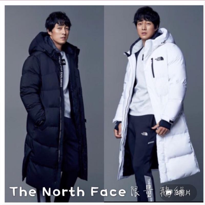(韓國限定)The north face 代言款 羽絨長版外套L號