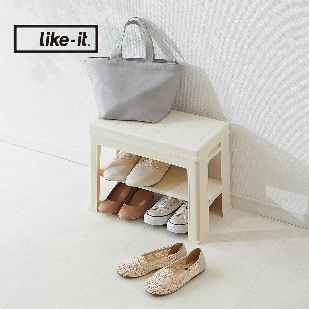 【日本like-it】日式玄關穿鞋收納椅