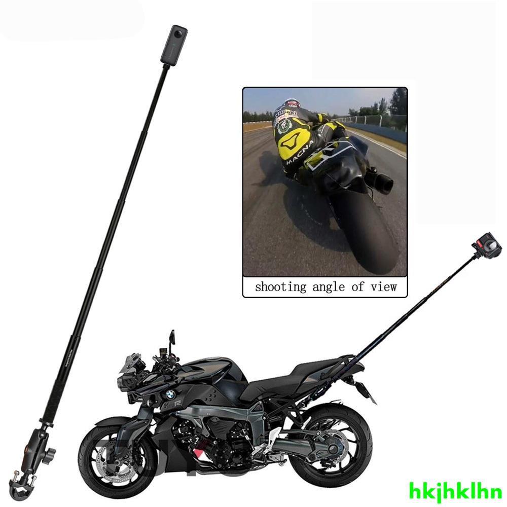 用於 Insta360 One R X X2 Gopro Max 隱形自拍杆支架配件的摩托車自拍杆延伸臂支架配件