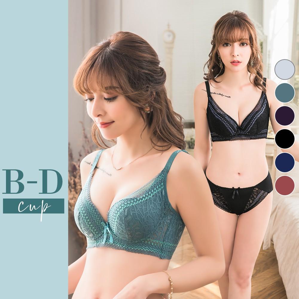 【黛瑪Daima】 B-D 再升級厚墊超爆乳機能蕾絲內衣 3059
