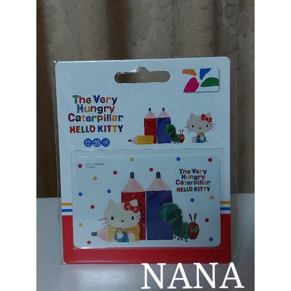 NANA(全新現貨)HELLO KITTY ㄨ 好餓的毛毛蟲悠遊卡-鉛筆 草莓 甜點 點點