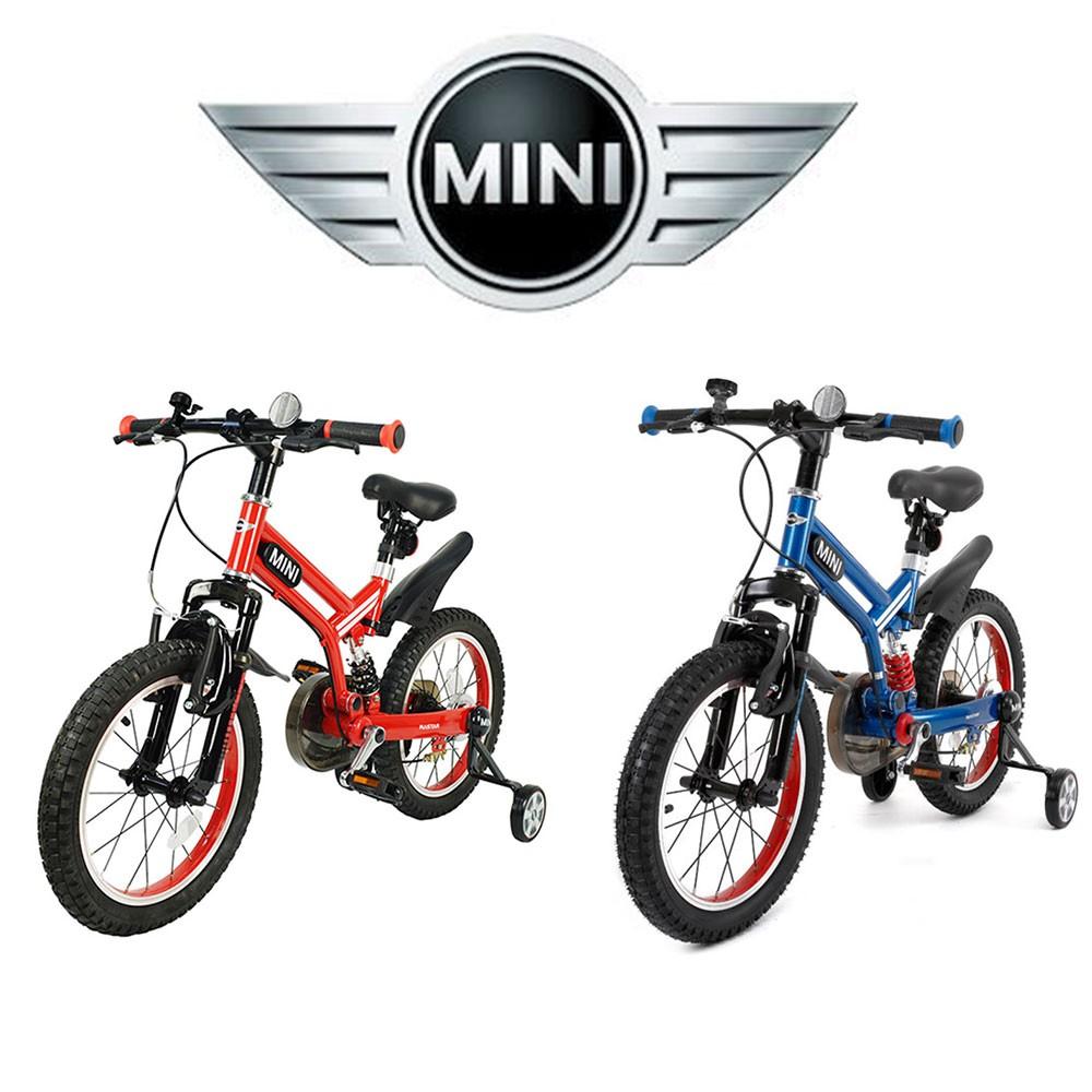 """英國 MINI COOPER原廠正版授權開拓者自行車16吋16""""前後擋泥板越野型兒童自行車越野腳踏車兒童三輪車 紅色藍色"""