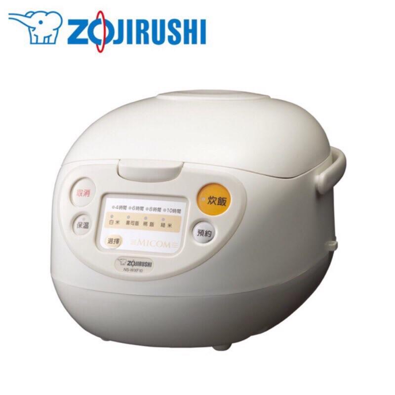 ZOJIRUSHI 象印6人份微電腦炊飯電子鍋 NS-WXF10-WB黑金剛厚釜