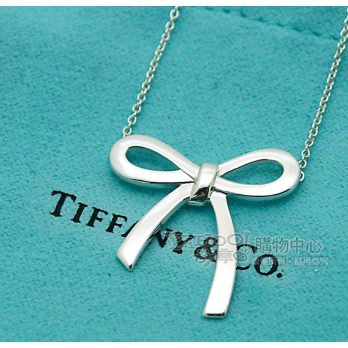 Tiffany&Co.蝴蝶結純銀項鍊 二手