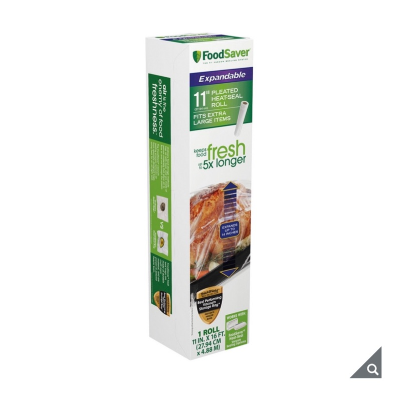 (宅配免運)真空袋(11吋2盒裝 )Foodsaver 真空加大立體卷 真空收納袋 烤雞袋 保鮮袋 食品包裝袋好市多代購