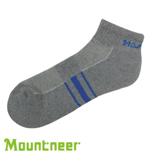 【Mountneer 山林 奈米銀氣墊健走短襪 灰/藍】 12U01/短襪/透氣襪/悠遊山水