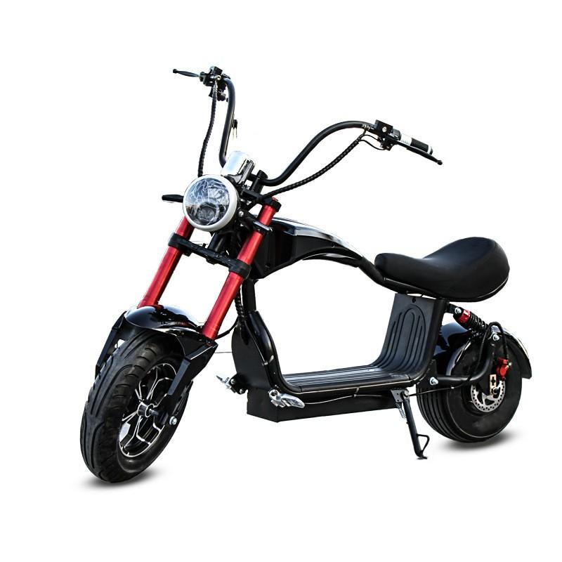 『寰球騎行•免運•可分期』 一件起批哈雷電動車鋰電代步滑板車成人兩輪踏板車寬胎助力車小M3