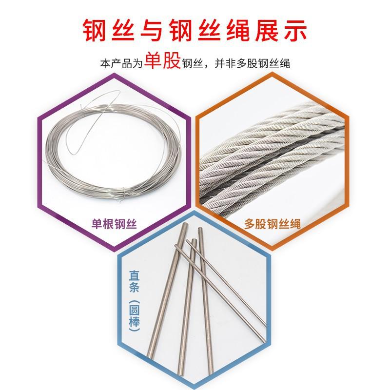 ❖﹊304不銹鋼鋼絲 單股綁紮軟鐵絲線 細不銹鋼絲架葡萄硬鋼絲線單根