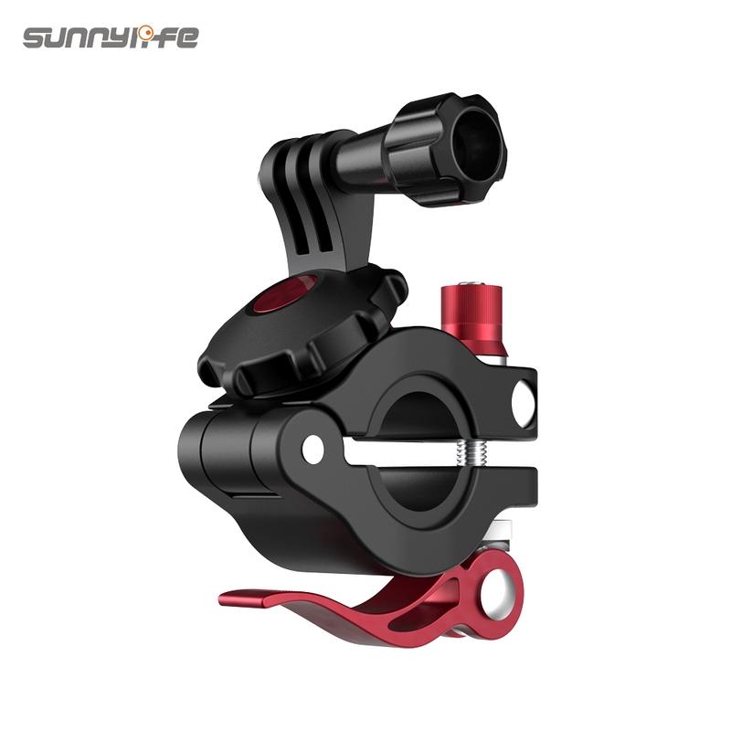 適用GoPro Insta360 One R相機夾  小管徑自行車夾 Osmo Action/POCKET 2通用支架