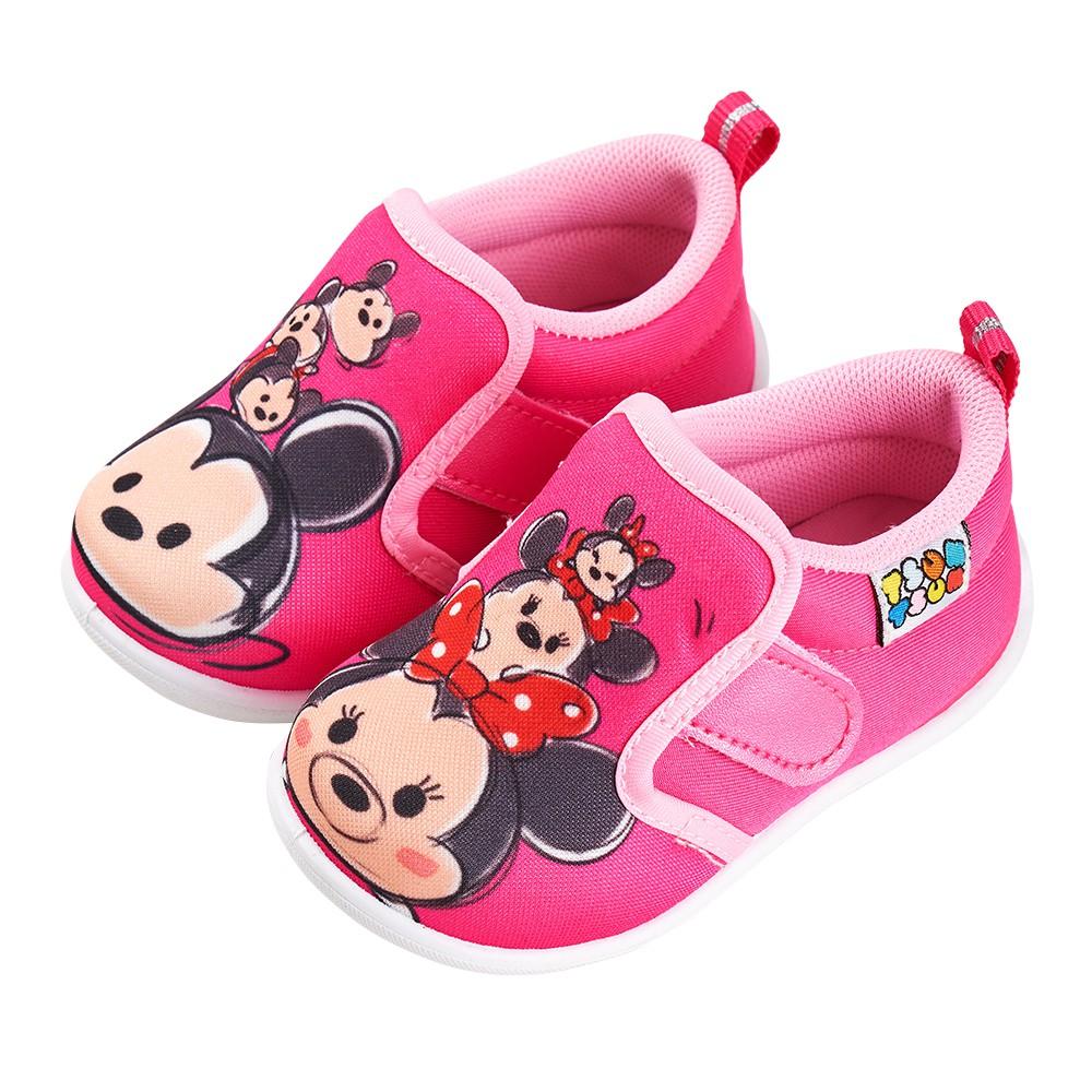 迪士尼童鞋 TSUMTSUM 米奇米妮家族學步鞋-桃
