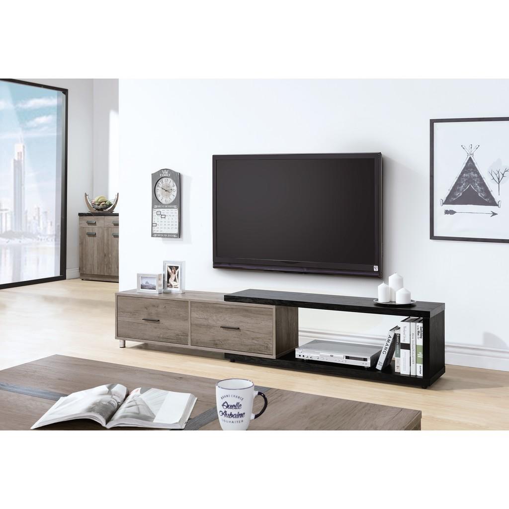 【 家居Home生活 】HY-21 肯特 古橡色 4尺伸縮電視櫃 台灣製造 傢俱工廠特賣