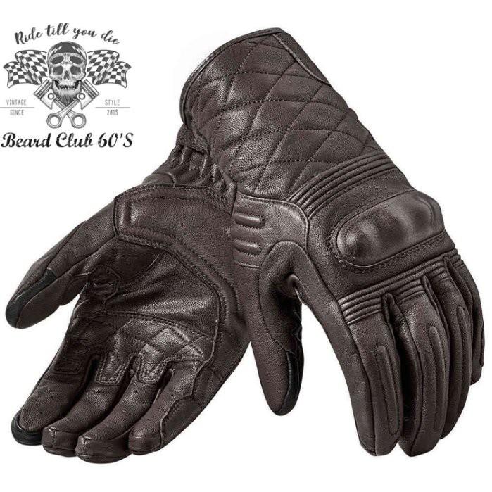 ♛大鬍子俱樂部♛ REVIT ® Monster 2 荷蘭 原裝 復古 騎士 重機 透氣 山羊皮 短手套 深棕色