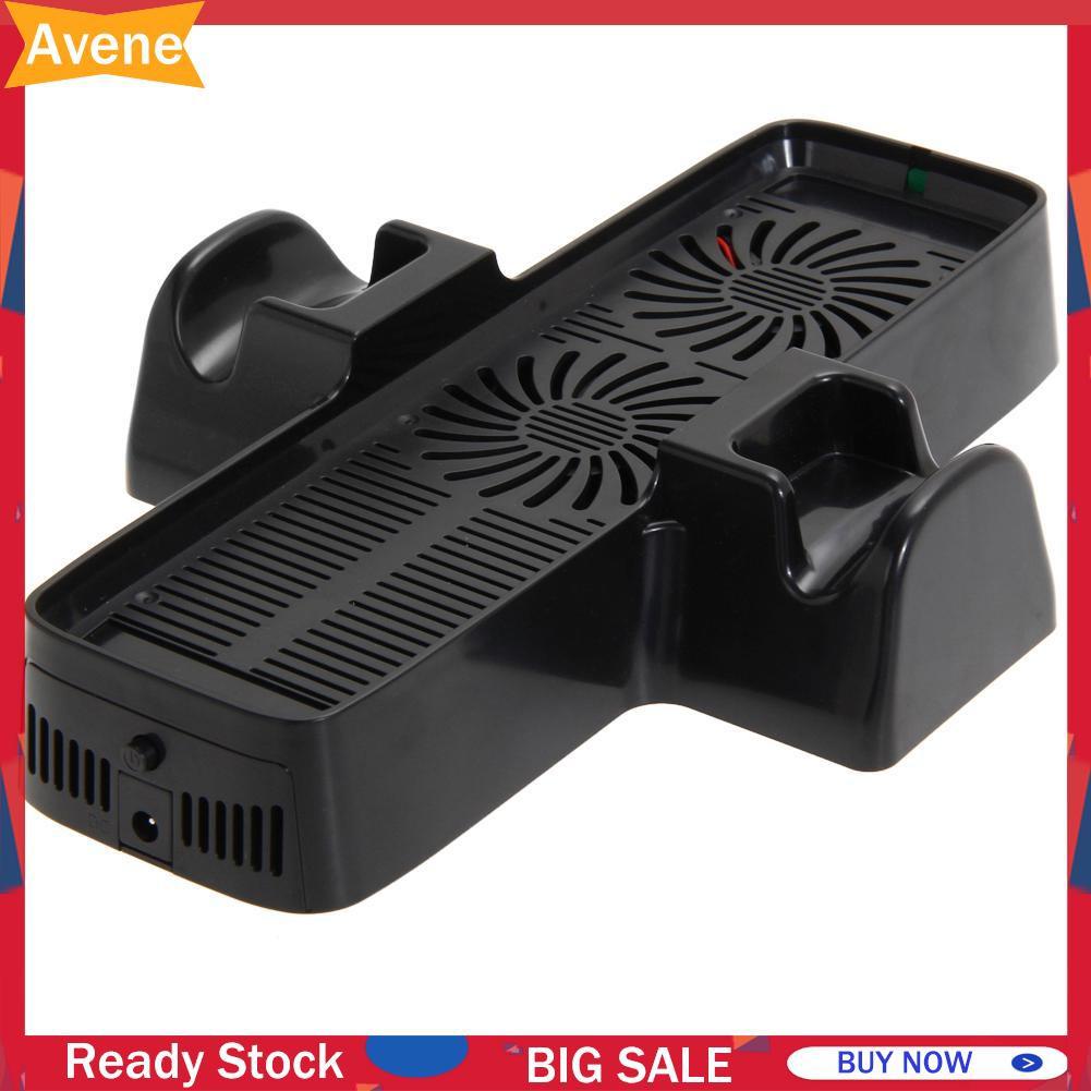 (Ave) 帶雙底座的冷卻風扇, 用於 Xbox 360 遊戲控制器