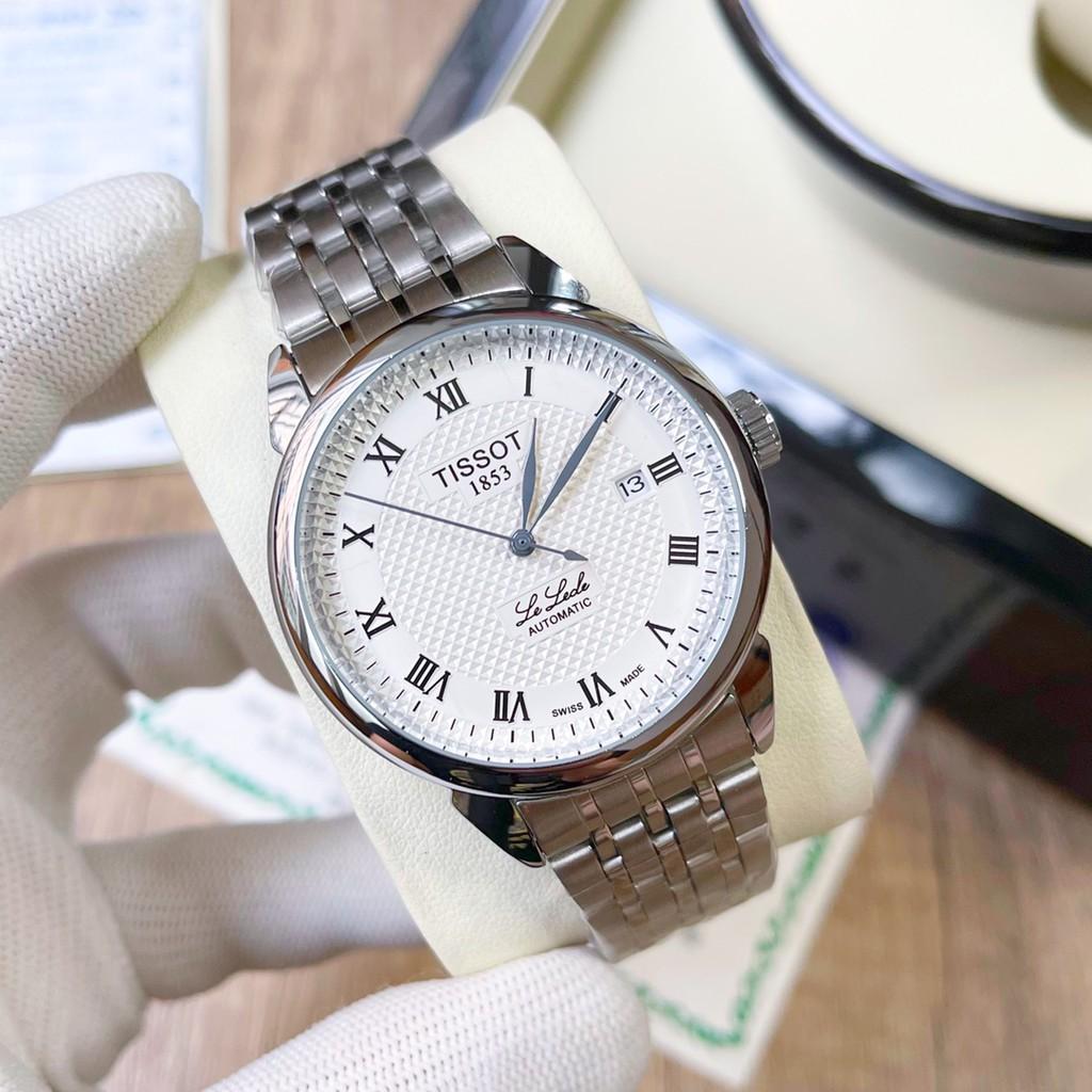 TISSOT-天梭 1853 男士機械錶 經典男錶 礦物質超強高清玻璃鏡面 實心鋼帶/蝴蝶扣 全自動機械錶 男士腕錶